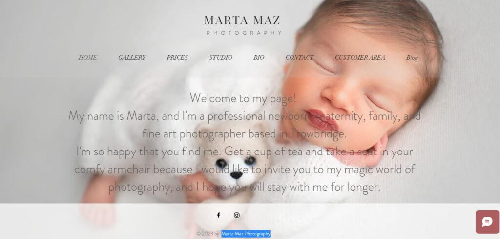 website designed with wix