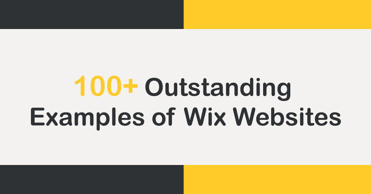 Outstanding Examples of Wix Websites
